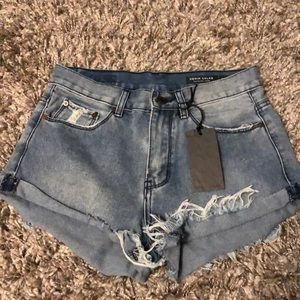 Denim collab jean shorts brand new with all tags